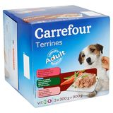 Carrefour Terrines Adult 3 x 300 g