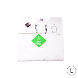 Set van 2 t-shirt V hals bio L wit