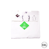 Set van 2 t-shirt V hals bio XL wit