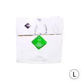 Lot de 2 t-shirt encolure ronde bio L blanc