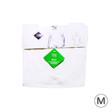Lot de 2 t-shirt encolure ronde bio M blanc