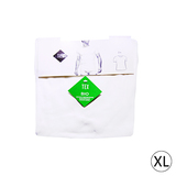 Lot de 2 t-shirt encolure ronde bio XL blanc