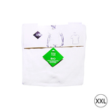 Lot de 2 t-shirt encolure ronde bio XXL blanc