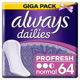 Always Dailies Profresh Protège-Slips Normal x64