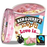 Ben & Jerry's Topped Glace Love Is 470 ml
