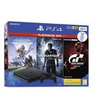 Sony - PlayStation 4 500GB Zwart + Playstation Hits Bundle V2